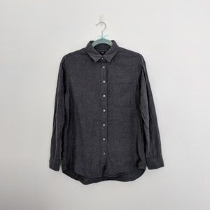 Uniqlo Dark Grey Flannel Long Sleeve Shirt